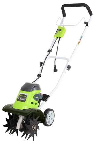 Buy Greenworks GTL9526 cultivator online, Characteristics and Photo
