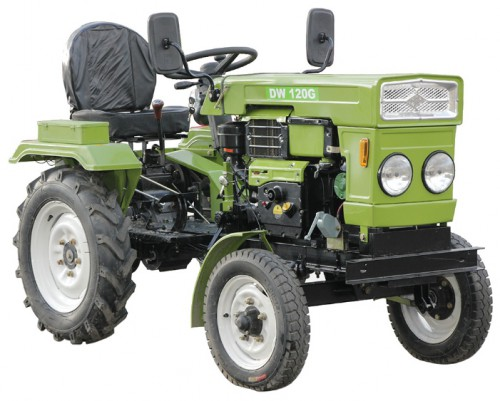 Buy DW DW-120G mini tractor online, Characteristics and Photo